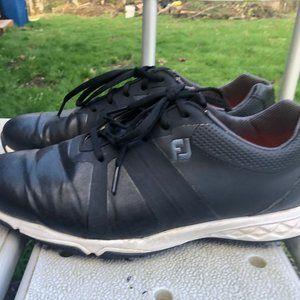 FootJoy FJ Men's Black Leather Golf Shoes Size 10M